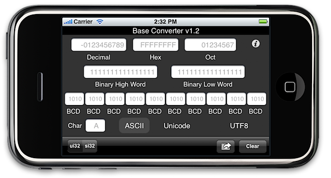 Base Converter for iPhone   Sayware